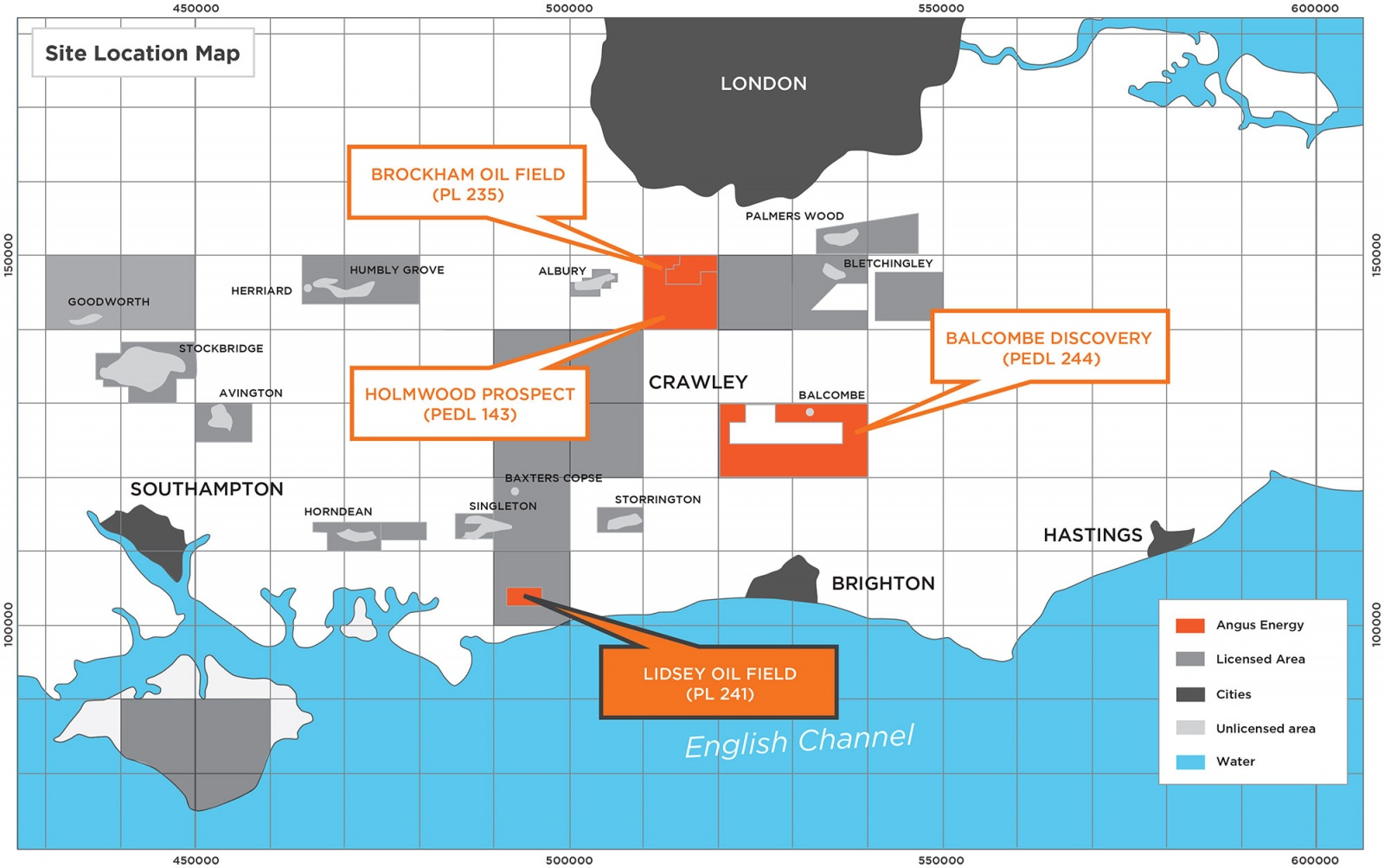 Map Of Uk Oil Fields.Lidsey Oil Field Angus Energy Plc